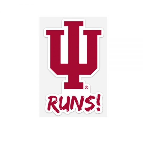 IU Runs Window Sticker